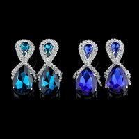 2015 new fashion big water drop earrings royal blue color designer inspired earrings
