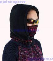 1 x Hot Winter Outdoor Thermal Warm Cap Fleece Ski Bike Scarf Wind Ski Mask Hats Without Glass