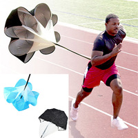 "56"" Speed Resistance Training Parachute Umbrella Running Chute Soccer Football Training Blue/Black"
