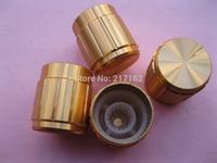 60 Pcs Per Lot Circular Knob Gold Aluminium Cover 16x15mm Gold Color Brand New High Quality HOT Sale