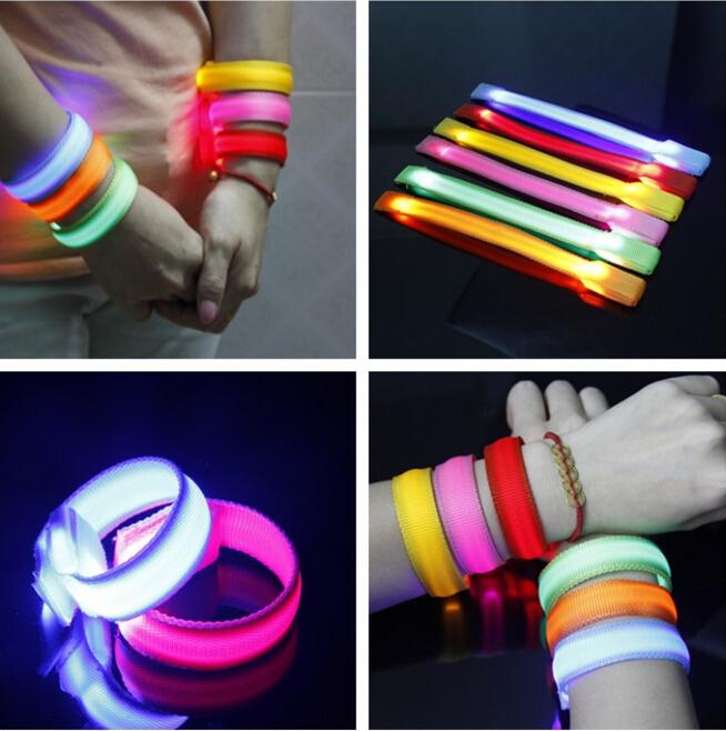 Free shipping Hot Sale 100PCS/Lot Fashion LED Armbands Reflective Bands Flashing Safety Velcro Arm Bands(China (Mainland))