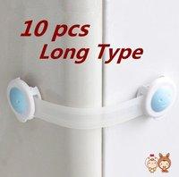 Free Shipping 10 PCS Bendy Door Drawers Fridge Cabinet Baby Kids Safety Lock LONGER 160mm*37mm*25mm