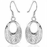 New Women Men Earrings Jewelry 925 Sterling Silver Drop Earrings Fashion Women Water drop Earrings Jewelry Wholesale