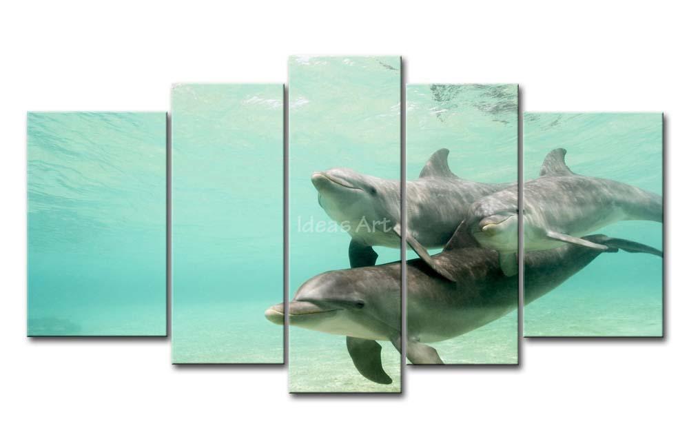 Dolfijn foto 39 s afdrukken koop goedkope dolfijn foto 39 s afdrukken loten van chinese dolfijn foto 39 s - Trendy kamer schilderij ...