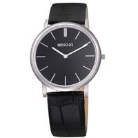 WEIQIN Luxury Fashion Men's Business 6 mm Slim Waterproof Leather Watches Sapphire Mirror Japanese Quartz Movement Watch