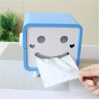 X176 cartoon smiley rolls square tissue box tissue pumping pumping tray Household