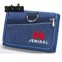 Free shipping Men's sports short 3 fold canvas wallet student models folded zipper wallet na260