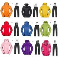 New Fashion brand  women's sports coat Winter outdoor waterproof waterproof breathable two-in-one woman hiking Ski jacket
