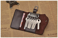 New Men and Women High quality Cow leather Keychain cowhide Key Wallets Key Holder fashion Car Key Case Key Bag Hasp Card Holder