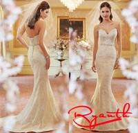 Vestido De Noiva Princesa Wedding Dress Lace 2015 Birde Wedding Gown Lace Mermaid Wedding Dresses Women Dress Wedding RBW259
