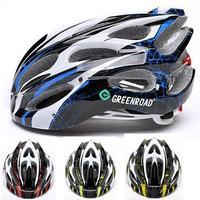Super Light Road Cycling Helmet With LED Night Flash Lights Greedroad Casco de la bicicleta capacete de Ciclismo