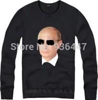 new Putin o-neck sweatshirt Hip-hop male survetement cotton men high quality long sleeve fleece survetement crew neck
