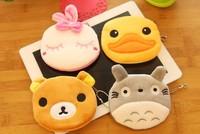 Super Kawaii UP TO 20Designs Cartoon Mini Plush Coin Purse Wallet Pouch Bag Case Makeup Storage Purse Pouch BAG Wallet Handbag