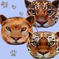 2014 new 3D printing coin purse lion leopard tiger animal wallet zipper lovely pouch bag card park cloth mini bag