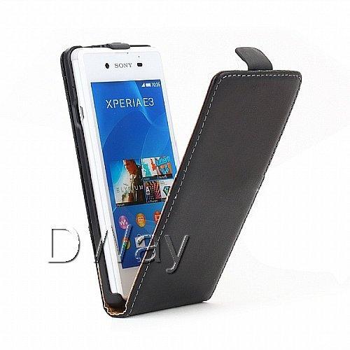 Действительно Кожаный Чехол Для Xperia E3 ВВЕРХ И Вниз Подлинная Откидная Крышка Чехол Для Sony Xperia E3 D2203 D2206 Мобильный Телефон Сумка чехол для для мобильных телефонов for sony xperia e3 sony xperia e3 sony xperia e3 d2203 d2206