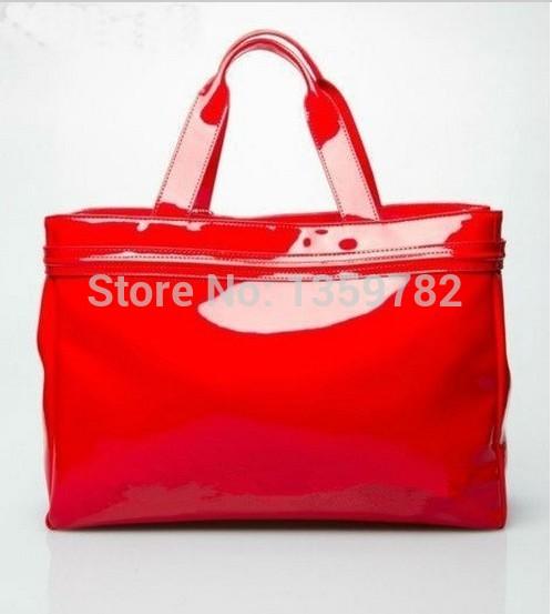 aA jJ 2014 women's fashion handbag hot-selling popular japanned leather women's handbag(China (Mainland))