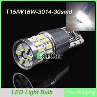 10PCS/Lot T15 3014 30 LED Rear Lights Reverse Lights, Car W16W Marker Light Bulbs Clearance Lamp