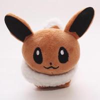 "1 Pc Pokemon Plush Eevee Doll Around 12cm 5"" soft toy pokemon center#D008"