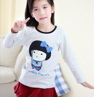 children spring princess shirts baby girls fashion cute girl printing long sleeve shirt flower girl fashion clothing JL-2179