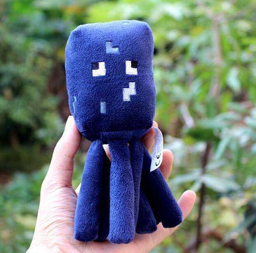 one pcs 2014 New Minecraft Seaworld Squid Animal Plush Soft Toy Doll Jazwares Game 86679(China (Mainland))