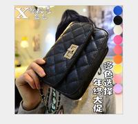 2015 small bag ling, han edition black mini shoulder bag fashion chain aslant package field female bag freeshipping