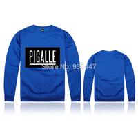 Pigalle New Autumn mens O Neck hip hop streetwear 100% cotton Printing sweatshirt survetement masculina long sleeve high quality