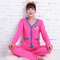 Autumn and winter fashion sports pajamas Women nightwear lounge long-sleeve cardigan ladies sleepwear set home clothes suit