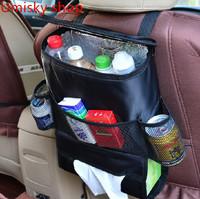 Waterproof fabric Thermal insulation bag Car Seat Side Back Storage Pocket  Hanging Storage Bags Organizer storage holder