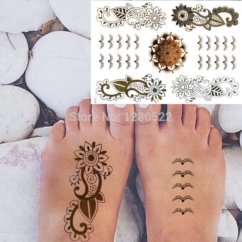 Buy 2 sheets fashion temporary flash for Henna tattoos locations