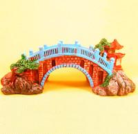 Neweat Fish Tank Aquarium Decoration Packages Aquarium Decorative Landscaping Rockery Resin Arch Bridge