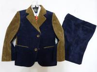 2015 New Kids Baby Boys Casual Suit Outerwear Blazers Costume 5-13 Y Children Clothing Set Vest Coat Pant Bow Tie Winter Set C29