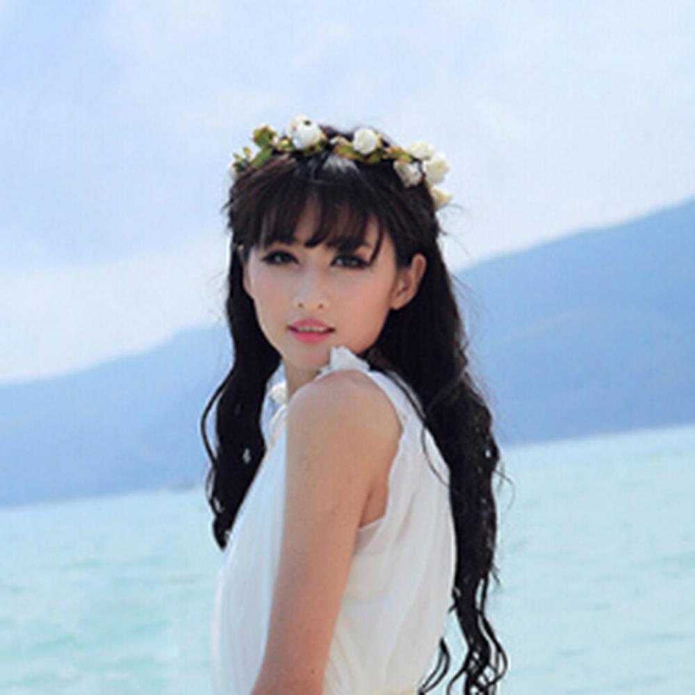 Elegant Flower Garland Headband Floral Headwear For Prom Party Wedding Bridal(China (Mainland))