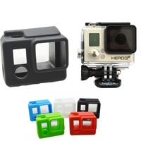 Go pro Acessorios Camera Silicone Protective Dirtproof Case Cover Skin Accessories for Gopro Hero 3+ Accessories Free shipping