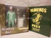 "Exclusive Mezco Breaking Bad Walter White Vamonos Green Hazmat Pest Suit Action Figure Limited to 500 7"""