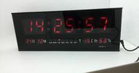 HIGHLY PRECISE  AC100v-240v LED Digital Wall Calendar Alarm Clock Red