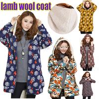 2015new fashion women lamb wool hooded sweatshirt winter outwear loose slim elegant autumn ladies casual fleece sweatshirt J1258