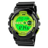 50 meters diving waterproof wristwatch men shock resistant watchface running watch PU watchband EL stopwatch women backlit steel