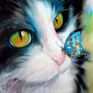 NEW 3D DIY Diamond Painting rhinestones set Embroidery resin craft yarn dyed wall decor Cross Stitch butterfly cat lovely fabric(China (Mainland))