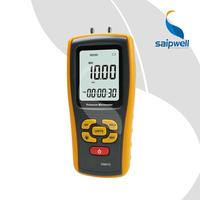 SPM510 LCD Display Pressure Manometer(Yellow)Air Pressure Gauge Meter Manometer Tester Tool