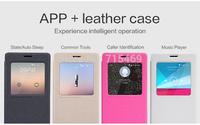 60pcs Auto sleep wake up original Nillkin Flip leather case Sparkle series for Xiaomi Redmi NOTE +retail box