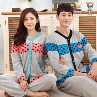 spring Autumn casual lovers sleepwear ladies cotton couple pajamas women's sleep sets fashion home sport clothing suits