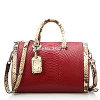 Leather Boston Handbag Embossed Retro Fashion Mobile Messenger Bag Ladies Handbag Alligator Pattern