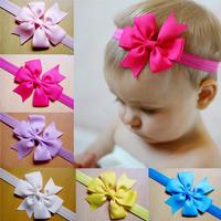 Baby Bow Headband Solid Hair Bowknot Headbands Infant Hair Accessories Girls Bow Headband Toddler Hairbands Free FS2024