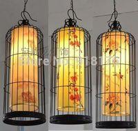 Free shipping 25CM 30CM 35CM 40CM vintage wrought iron, ornamental, villas engineering living room birdcage chandelier special
