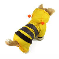 Cute Dog jumpsuit Autumn Winter Outfit Pet Clothes Three-dimensional Coat Bee Ladybug Strawberry Change To Pack Size S M L XL