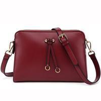 2015 new spring fashion preppy style Double zipper one shoulder bags women leather handbags women messenger bags women handbag