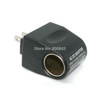 Wholesale 10pcs Black 110V AC To12V DC Car Cigarette Lighter Socket Charger Adapter US Plug