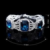 fashion blue stone new arrive crystal fashion bracelet free shippment