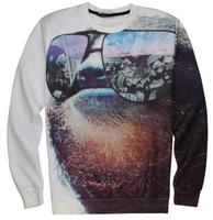 2015 Brand new Women Men Dollars money Glass print Pullover 3D Sweatshirts Hoodies Harajuku coat Tops funny shirt Galaxy sweater