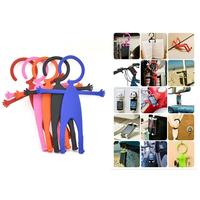2015 new Practical Flexible Car phone holder Hook Multifunction Human Shape Hanger for iphone 6 Plus 5 4 Samsung&HTC&Sony MAT2